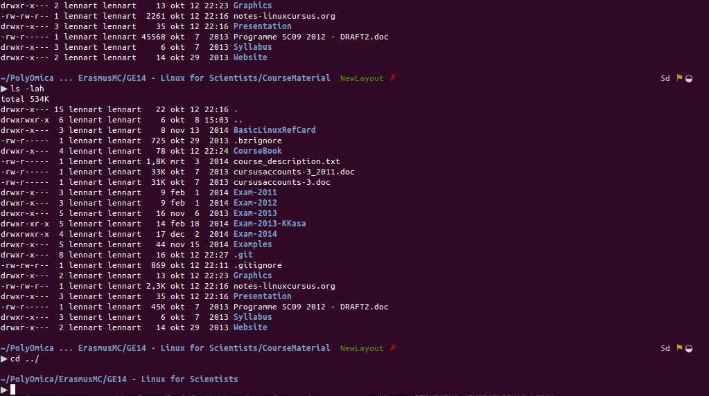 Linux commandline