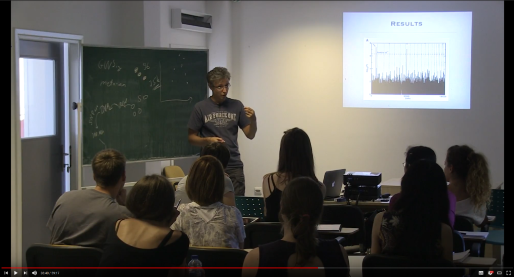 Yurii Aulchenko lecturing at the RSSSO 2014
